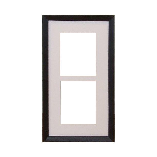 BLID svart 17x32 cm 2x(10x12cm)