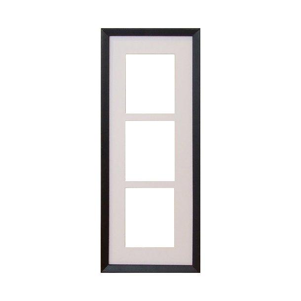 BLID svart 17x45 cm 3x(10x12cm)